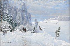 Winter Landscape | Carl Johansson | Oil Painting
