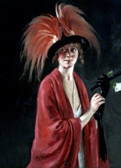 Paradise Plumes and Red Shawl | William Bruce Ellis Ranken | Oil Painting