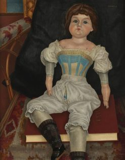 Doll in Corset   Rudolf Wacker   Oil Painting