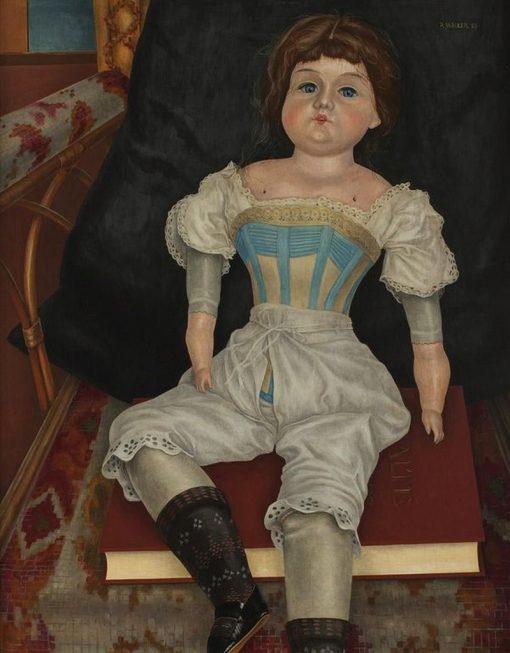 Doll in Corset | Rudolf Wacker | Oil Painting