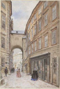 Die alte Schauflergasse in Wien | Franz von Alt | Oil Painting