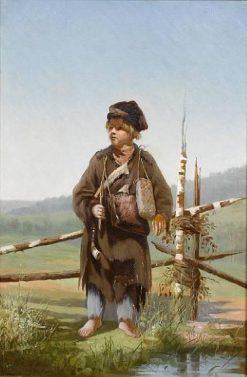 The Young Huntsman   Alexei Korzukhin   Oil Painting