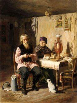 Tea Time   Alexei Korzukhin   Oil Painting