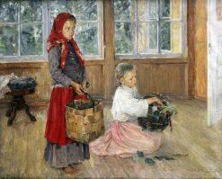Children on the Terrace   Alexei Korzukhin   Oil Painting