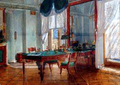 The Study of Alexander I in Tsarskoye Selo Palace   Alexei Korzukhin   Oil Painting