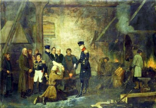 Alexander I Visits a Urals Factory in 1824 | Alexei Korzukhin | Oil Painting