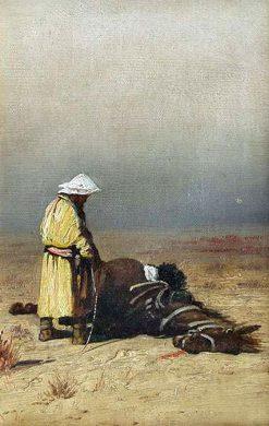 The Dead Horse   Alexei Korzukhin   Oil Painting