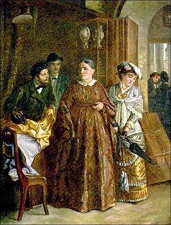 Buying Dowry   Alexei Korzukhin   Oil Painting