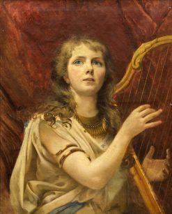 The Harp Player   Alexei Korzukhin   Oil Painting