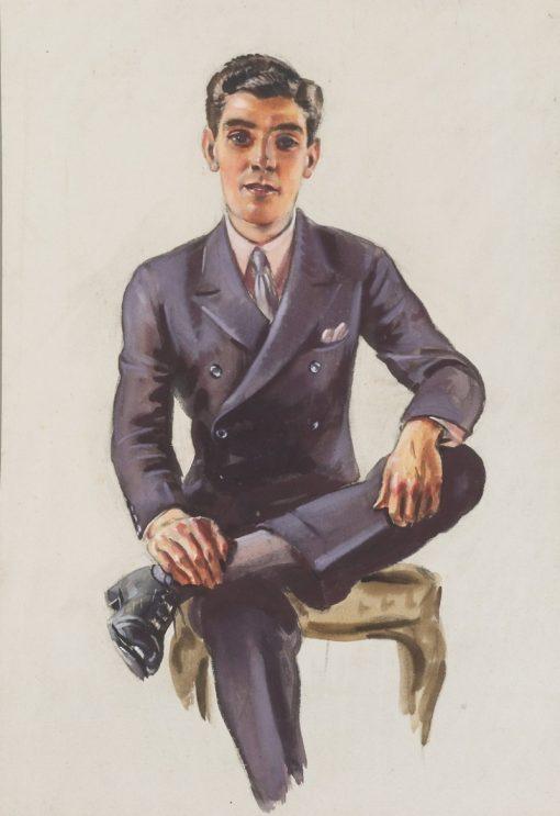 Portrait of a Young Man | William Bruce Ellis Ranken | Oil Painting
