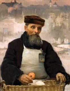 The Fruit Seller   Alexei Korzukhin   Oil Painting