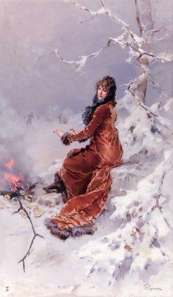 By the Skating Pond | Frederik Henrdik Kaemmerer | Oil Painting