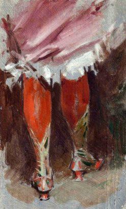 Red Stockings | Frederik Henrdik Kaemmerer | Oil Painting
