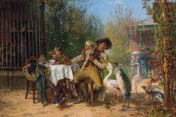 At the Zoo | Frederik Henrdik Kaemmerer | Oil Painting