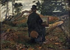 Painter Frederik Hendrik Kaemmerer at Work in Oosterbeek | Jacob Maris | Oil Painting