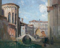 San Gregorio and The Rio Della Salute | Sir Arthur Streeton | Oil Painting