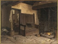 A Cottage Interior. Study | Josef Wilhelm Wallander | Oil Painting