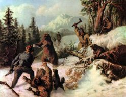 Bear Hunt   Josef Wilhelm Wallander   Oil Painting