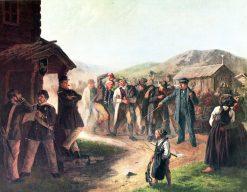 Bevaringsgossar   Josef Wilhelm Wallander   Oil Painting