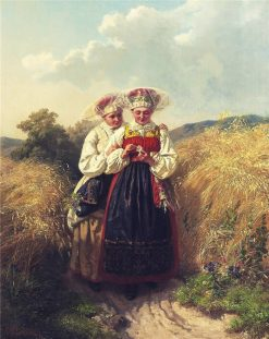 Friends   Josef Wilhelm Wallander   Oil Painting