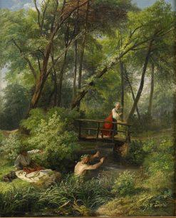 Bather   Josef Wilhelm Wallander   Oil Painting