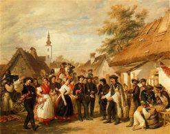 Village Dance   Josef Wilhelm Wallander   Oil Painting