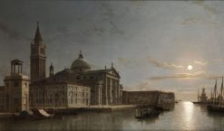 San Gorgio Maggiore by Moonlight | Henry Pether | Oil Painting