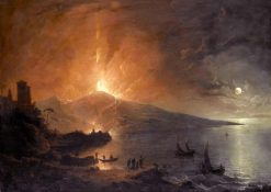 The Eruption of Vesuvius by Night | Henry Pether | Oil Painting