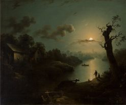 Watching the Moonrise | Henry Pether | Oil Painting