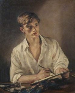 Young Man Sketching   William Bruce Ellis Ranken   Oil Painting