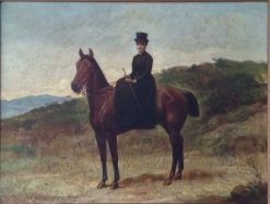 Woman on Horseback | George W. Pettit | Oil Painting