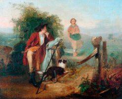 The Gentle Shepherd | Alexander Johnston | Oil Painting