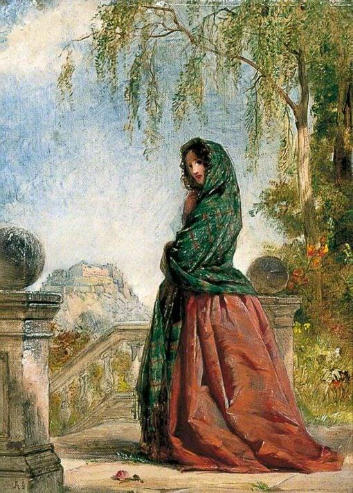 On the Balcony | Alexander Johnston | Oil Painting