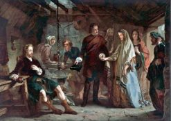 The Introduction of Flora Macdonald to Prince Charles Edward Stuart after the Battle of Culloden | Alexander Johnston | Oil Painting