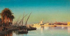 Evening on the Nile near Cairo | Carl Neuman | Oil Painting