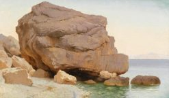 Rocks on the Shore | Carl Neuman | Oil Painting