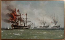 The Climax of the Battle of Heligoland | Carl Neuman | Oil Painting