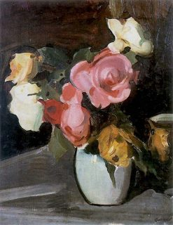 Roses   Gustav Gwozdecki   Oil Painting