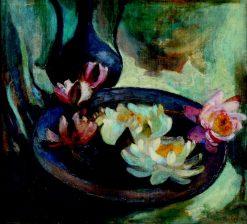 Waterlilies   Gustav Gwozdecki   Oil Painting