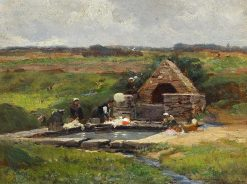 Washerwomen at the Well | Leon Louis Antoine Tanzi | Oil Painting