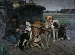 Flemish Dogs   Karl Kristian Uchermann   Oil Painting