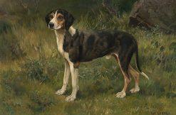 Hound   Karl Kristian Uchermann   Oil Painting