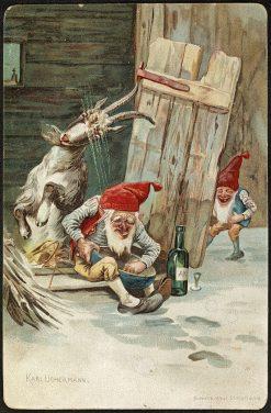 Christmas Card   Karl Kristian Uchermann   Oil Painting