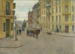 Tostrup Gate   Karl Kristian Uchermann   Oil Painting