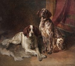 Two Dogs | Karl Kristian Uchermann | Oil Painting