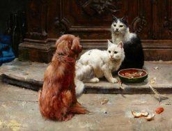 The Food Bowl   Karl Kristian Uchermann   Oil Painting
