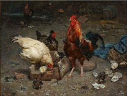 The Uninvited Guest   Karl Kristian Uchermann   Oil Painting