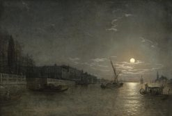 A moonlit view on the Grand Canal