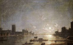 Houses of Parliament by Moonlight | Henry Pether | Oil Painting