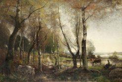 Vallflickans vilostund   Alfred Wahlberg   Oil Painting